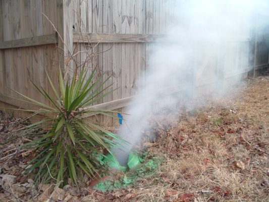 smoke test terra cotta pipe