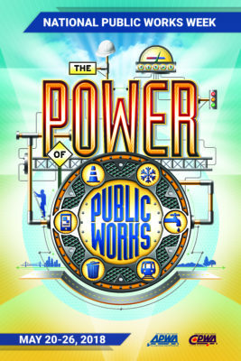 The Power of Public Works - NPWW 2018 poster